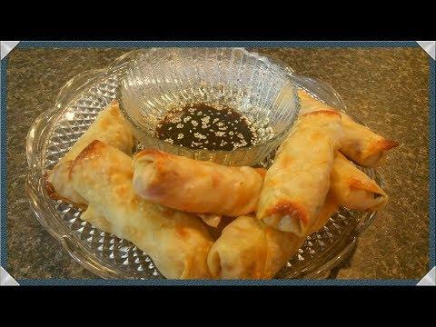 Oven Baked Egg Rolls Recipe/How To Cook Shrimp Egg Rolls