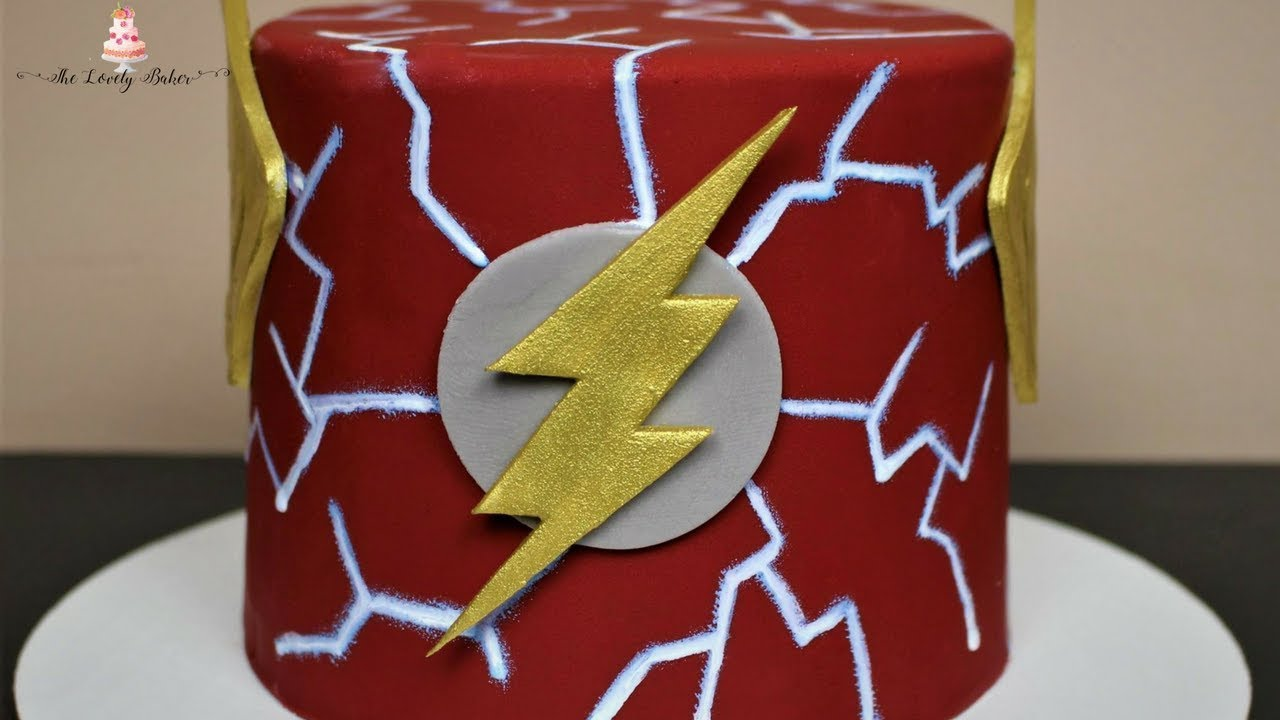 Easy The Flash Justice League Cake Tutorial Youtube