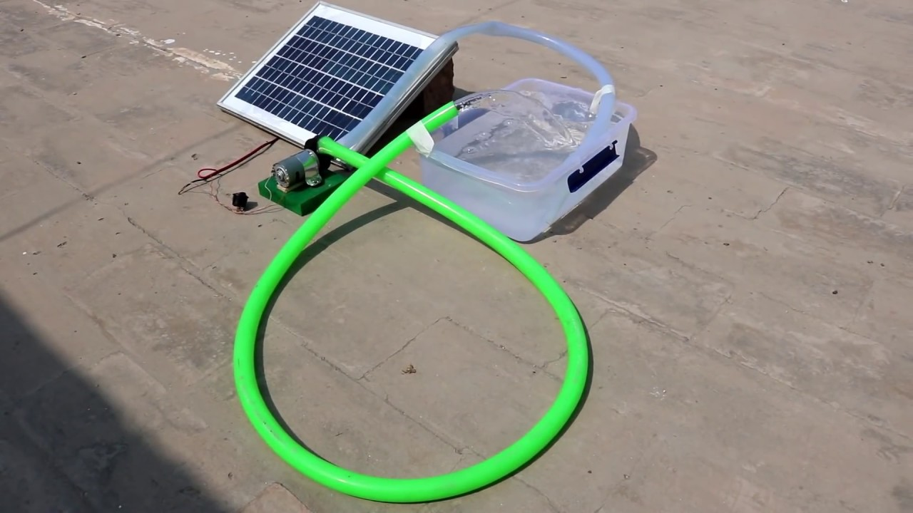 how to make a mini solar water pump at home new easy way [ 1280 x 720 Pixel ]