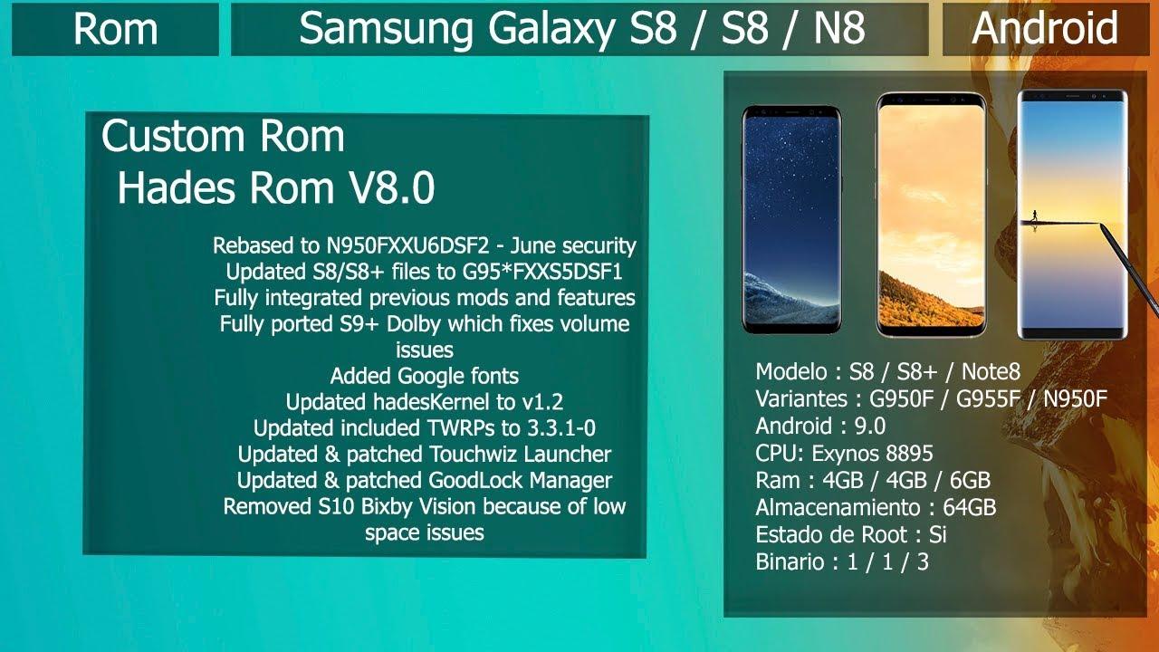 Rom Hades V8 0 - Android 9 0 - Samsung Galaxy S8 / S8+ / Note 8
