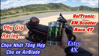 NHỚT VOLTRONIC XM Scooter RACE 4T 100% Fully Synthetic || Nhớt CAO CẤP CHO XE AirBlade Đi Tour