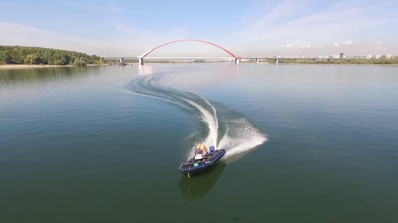 Лодка ОКА-4. Мотор Yamaha F40FETs. Тримирование на ходу. - YouTube