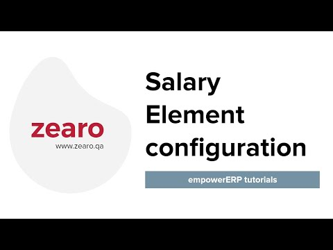 Salary Element Configuration In Empower ERP