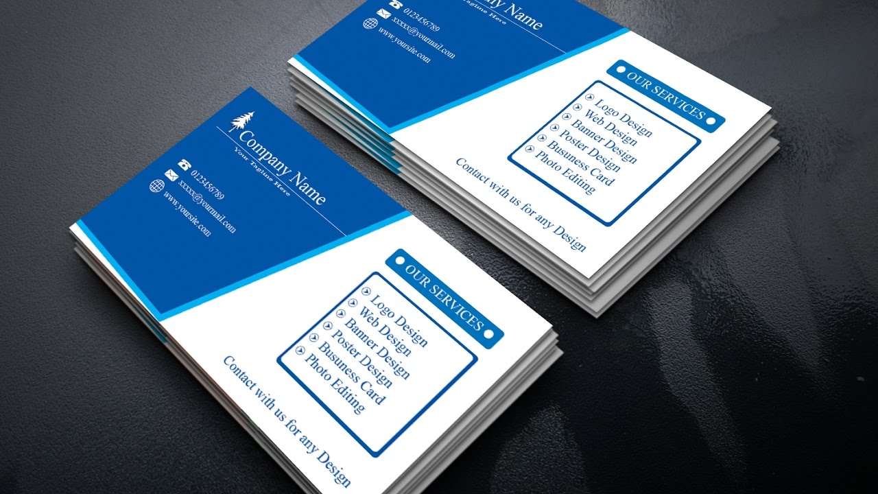 Business Card Design | Make Your First Business Card in Photoshop for Beginners