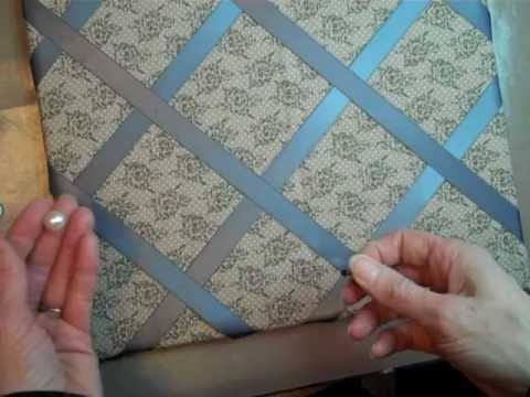 Fabric Ribbon Covered Bulletin Board
