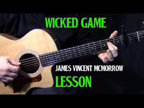 """how to play """"Wicked Game"""" from Game of Thrones season 6 trailer   by James Vincent Mcmorrow   lesson"""