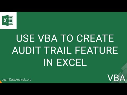 Create Audit Trail In Excel | Excel VBA Tutorial