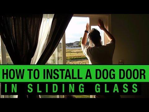 How to Install a Dog Door in a Sliding Glass Door - PetSafe Dog Door Installation