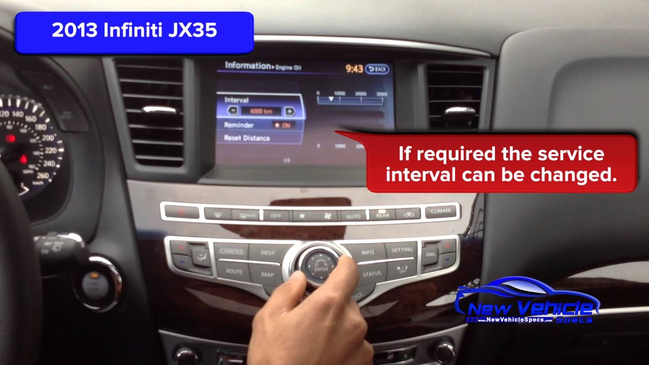 2013 infiniti jx35 oil light reset service light reset youtube vanachro Image collections