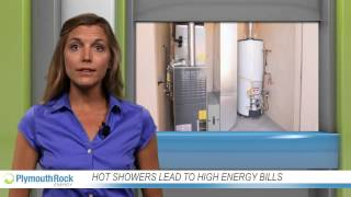 Hot showers lead to high energy bills