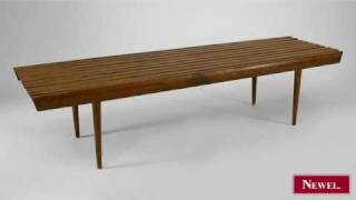 Antique Pair Of Danish 1950s Dark Stained Oak Benches With