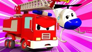 Авто Патруль -  Проблема с колесами Джерри - Автомобильный Город  🚓 🚒 детский мультфильм