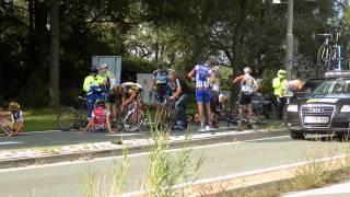 Valpartij peleton Ronde van Midden-Nederland 31 augustus 2014