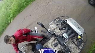покатушки на квадроциклах yamaha grizzly vs balt motors(покатушки на yamaha grizzly 700 и balt motors jambo 700. в этом видео можно увидеть почти все, что нужно для покатушек: болото,..., 2015-07-01T12:24:59.000Z)