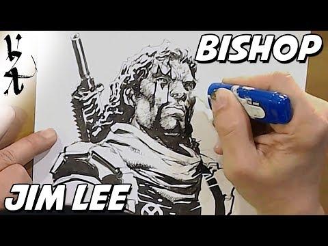 Jim Lee drawing Bishop