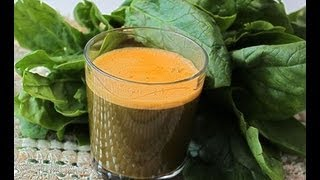 Carrot Spinach Juice - Quick Recipes - Easy Recipes - How To