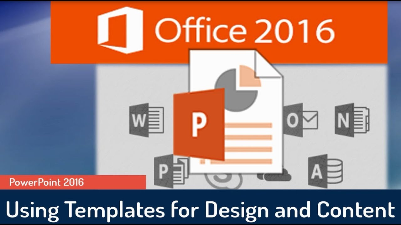 powerpoint 2016 tutorial using templates for both design and