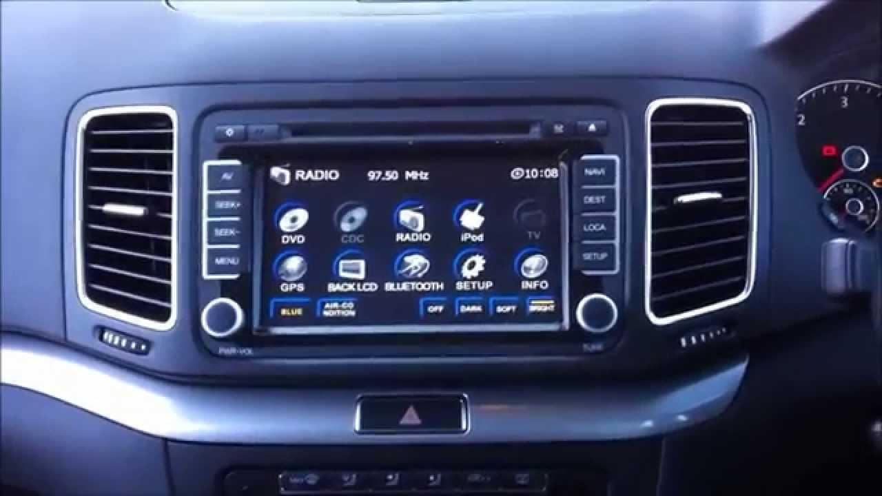 flyaudio vw sharan gps dvd navigation system youtube