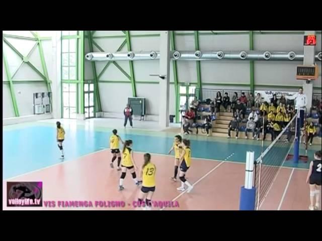 Vis Fiamenga Foligno vs CUS L'Aquila - 3° set
