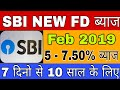 SBI latest Fixed Deposit (FD) Interest Rate 2019 | SBI Term Deposit Interest Rate Revision 2019