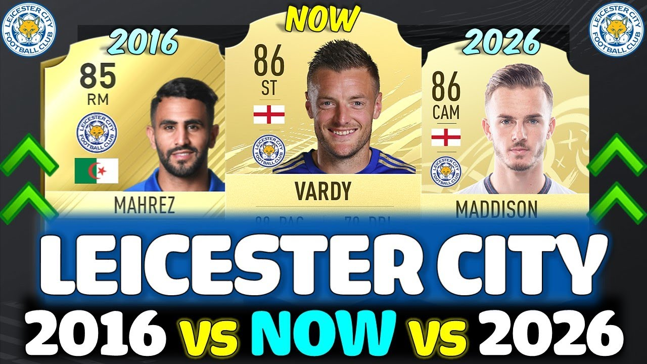 LEICESTER CITY 5 YEAR CHALLENGE!! FT. MAHREZ, VARDY, MADDISON ETC... (FIFA LEICESTER CITY)