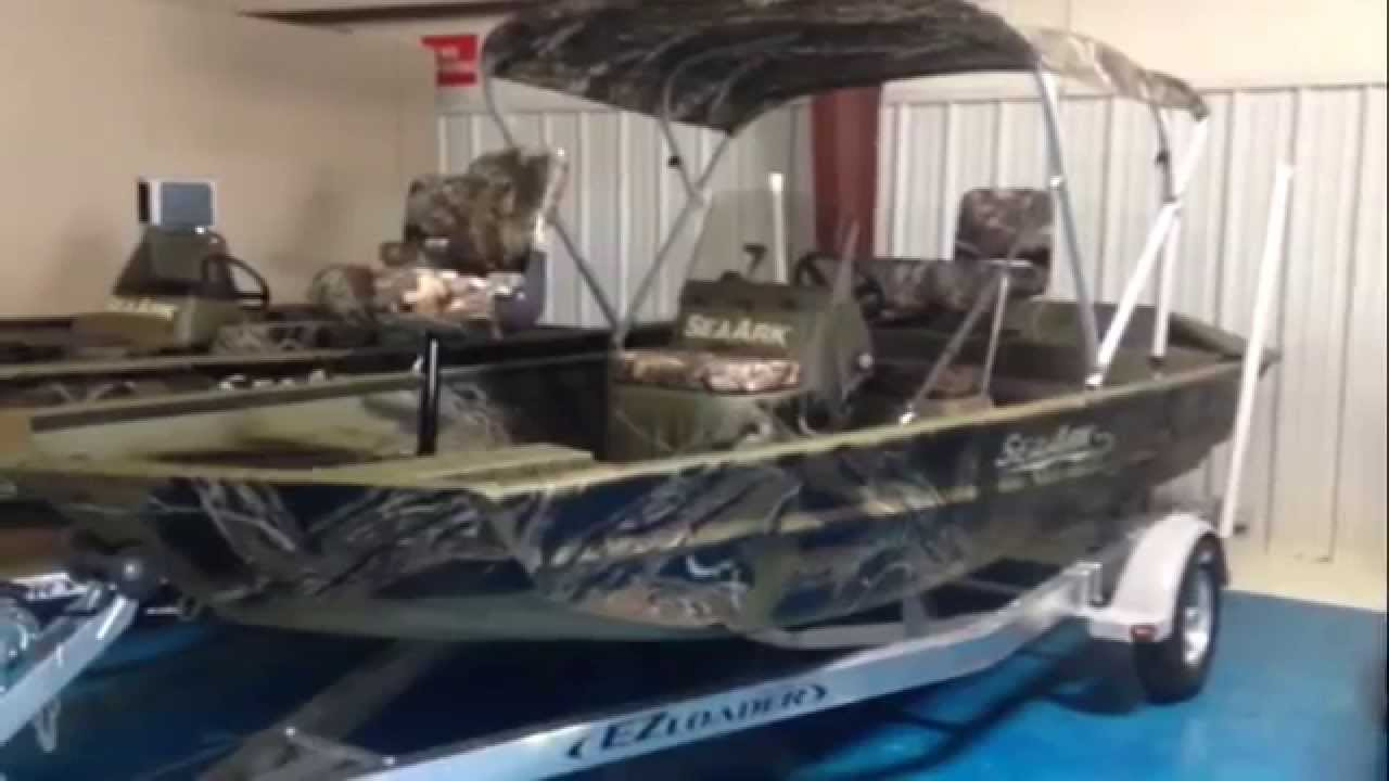 2015 sea ark rxjt186 jet welded aluminum fishing boat lake for Jet fishing boats for sale