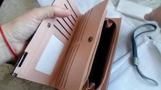 Кошелёк для женщин, кожаный клатч для телефона  и кредитных карт.Приложение AliExpress