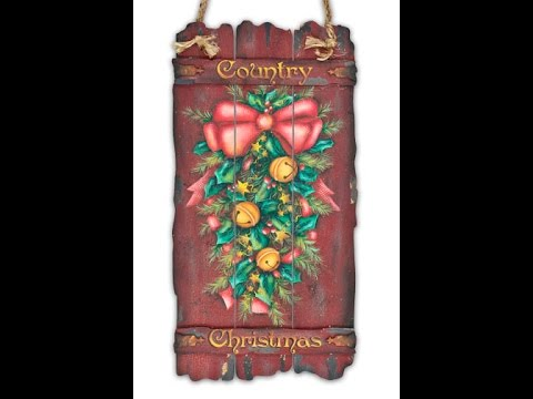 Country Christmas Tole and Decorative Painting by Patricia Rawlinson
