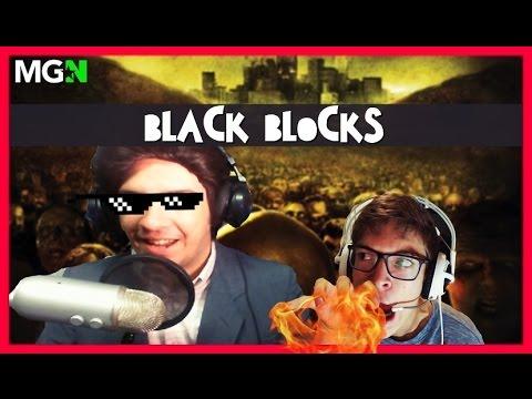 OS BLACK BLOCKS DO LEFT 4 DEAD 2 Ft. Silvio Santos Nerd & SuperNoob - 동영상
