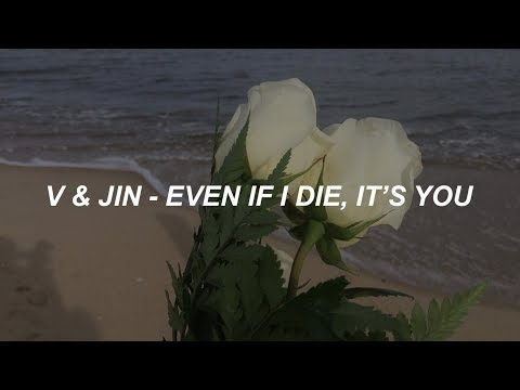 V & Jin (BTS) 'Even If I Die, It's You' Easy Lyrics