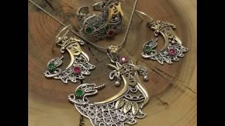 Midyat 925 Ayar Bayan Gümüş Üçlü Set Takım Modelleri