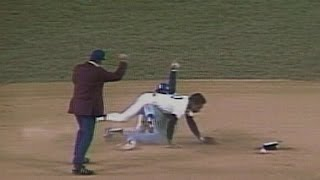 1977 ALCS Gm2: McRae takes out Randolph at second