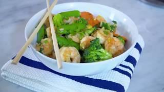 Garlic Ginger Shrimp & Vegetable Stir-Fry with Chef Addison Osta-Smith