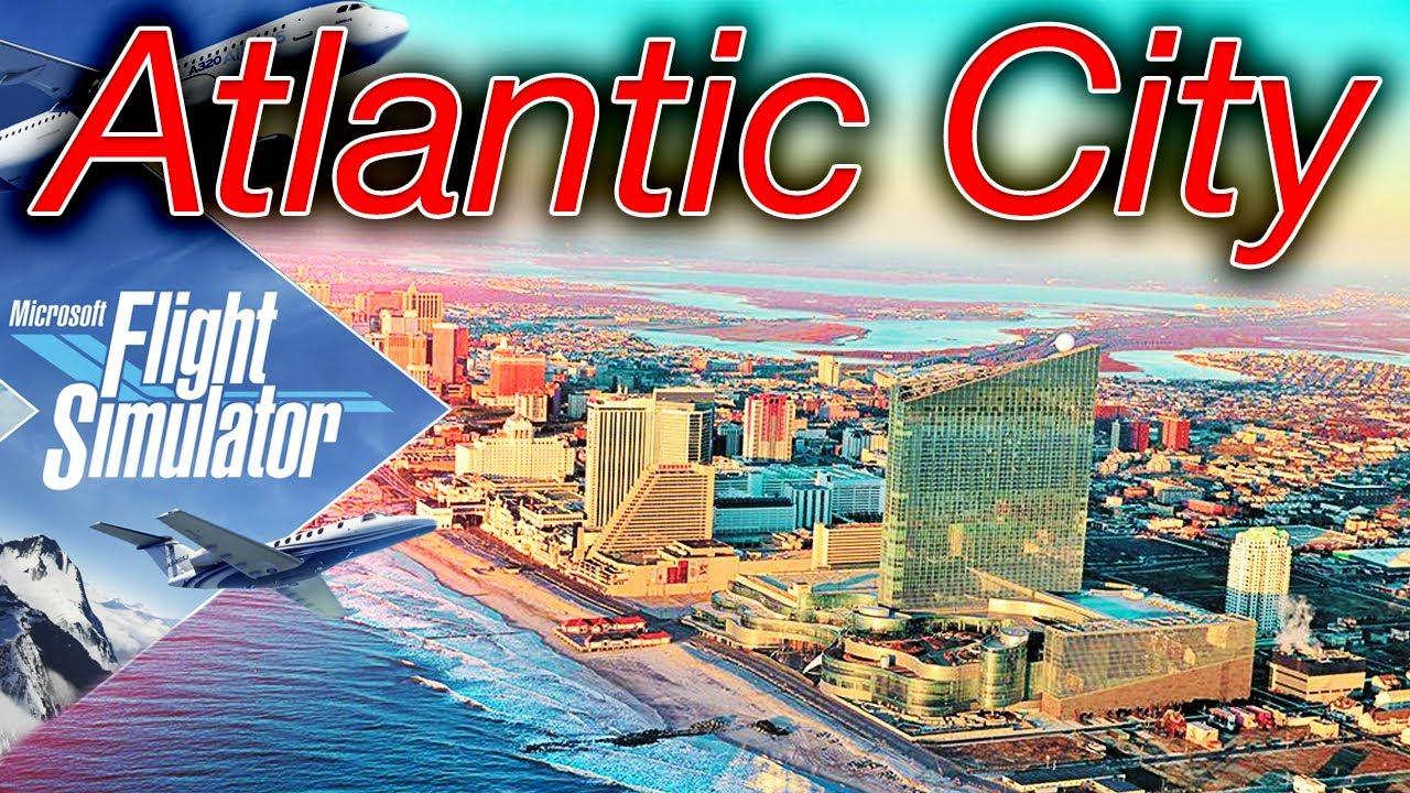 [🔴4K] Atlantic City Flight | MSFS
