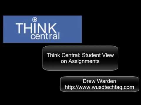 Think Central: Student view on Assignments/scores