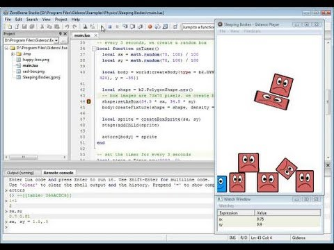 Gideros debugging with ZeroBrane Studio - ZeroBrane