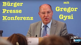 Gregor Gysi in der BürgerPresseKonferenz