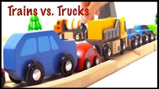 Brio Toys TRAFFIC JAM City! - Toy Trucks vs. Toy Trains! - New METRO!