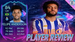 84 RTTF FELIPE ANDERSON PLAYER REVIEW! ROAD TO THE FINAL SBC PLAYER - FIFA 21 ULTIMATE TEAM