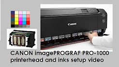 Canon imagePrograf PRO-1000 (part3) - Setup printer head and inks