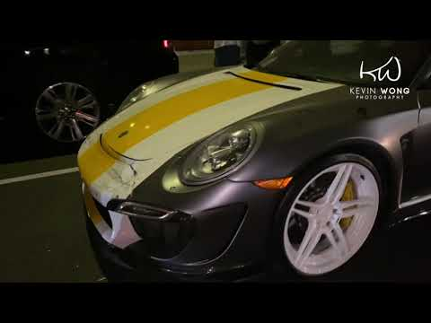 Chris Brown Porsche & Rolls Royce Gets Destroyed By Drunk Driver During Party At The Nice Guy