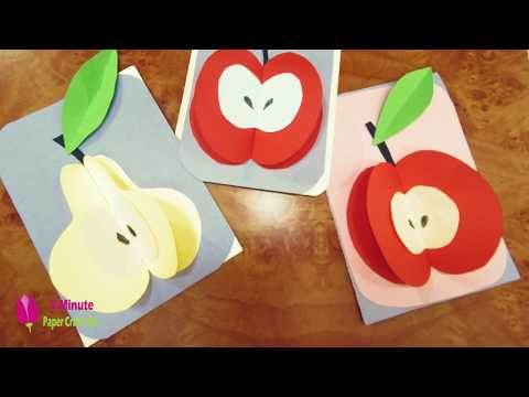 How to Make Paper Apple Fruits #17, DIY PAPER, decoration craft interior, crepe paper,origami flower