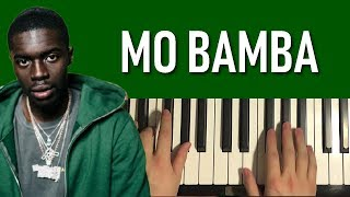 HOW TO PLAY - Sheck Wes - Mo Bamba (Piano Tutorial Lesson)