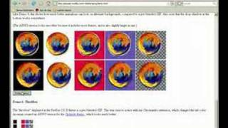 Firefox 3 béta 2 Animated PNG