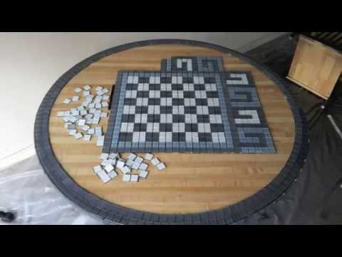 DIY Furniture Makeover Idea, Sticky Glass Mosaic Tile, BAR TABLE Top