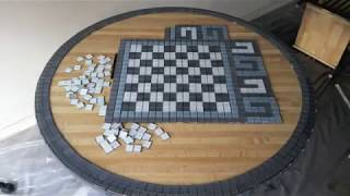 Diy Chess Glass Mosaic And Bar Table, Furniture Flip