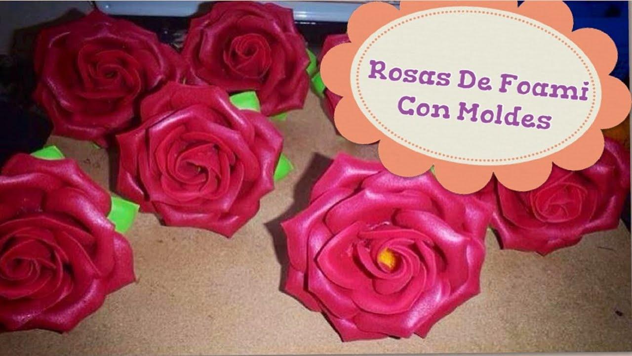 Como hacer rosas de foami con moldes youtube - Como hacer flores ...