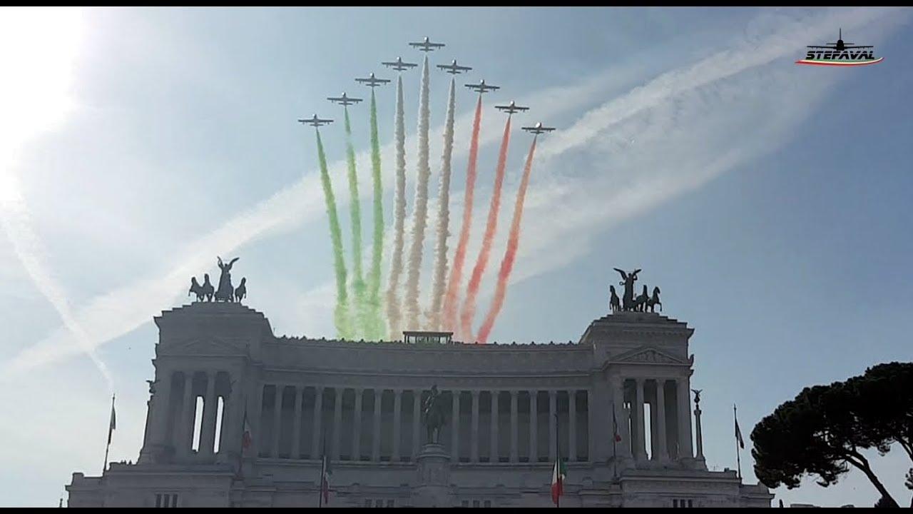 Frecce Tricolori Roma Festa Delle Forze Armate 4 Novembre