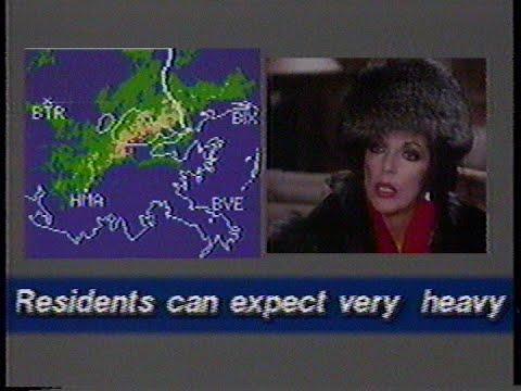 WVUE Ch  8 New Orleans, La  Radar Weather Alert 01/16/85