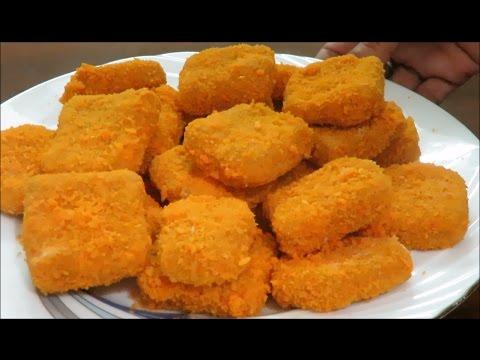 Homemade Chicken Nuggets   চিকেন নাগেটস   with English Captions